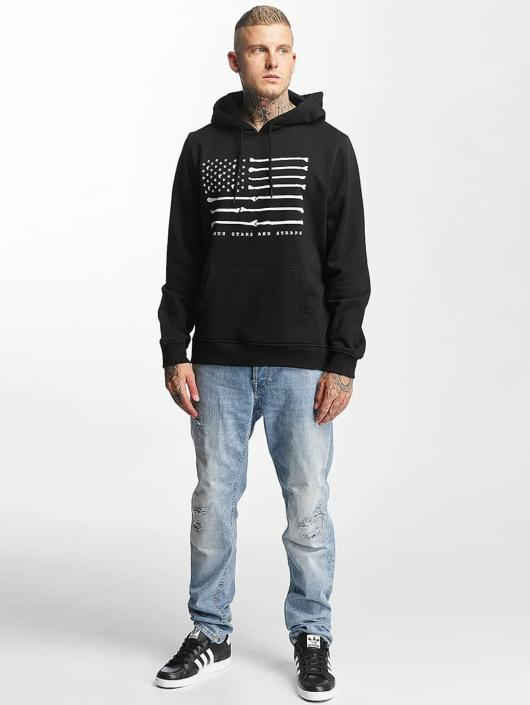 Famous Stars and Straps Hoodies Bone Flag čern