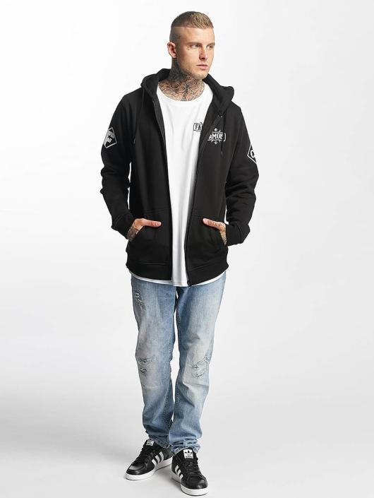 Famous Stars and Straps Hoodies con zip Chaos nero