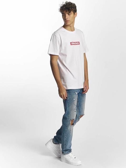 Famous Stars and Straps T-paidat Famous Box Logo valkoinen