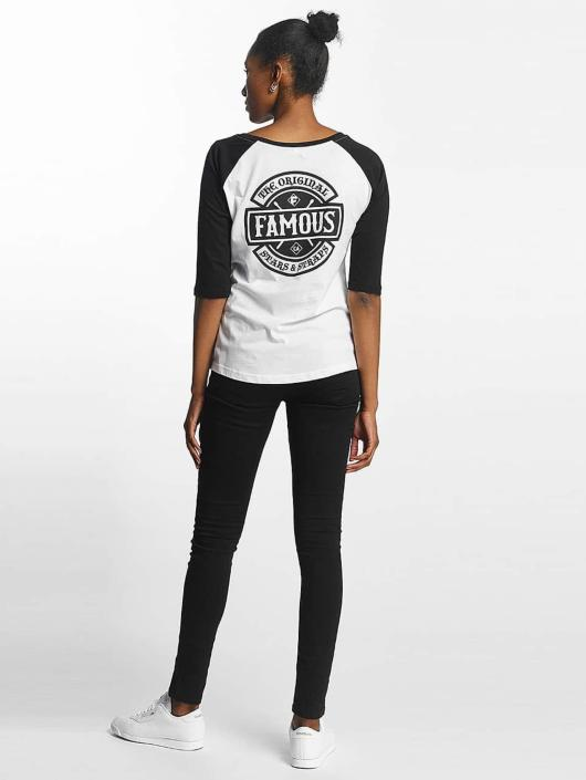 Famous Stars and Straps T-shirt Chaos Patch Raglan bianco