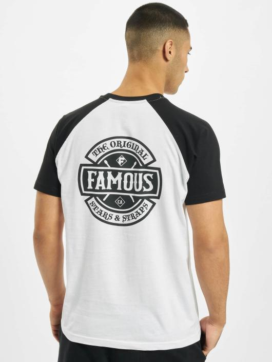 Famous Stars and Straps T-Shirt Chaos Patch Raglan blanc