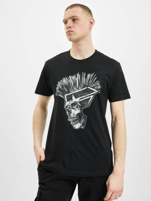 Famous Stars and Straps T-Shirt Punks Not Dead noir