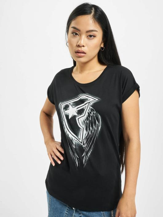 Famous Stars and Straps T-Shirt Ladies Wings noir