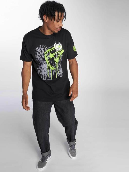 Famous Stars and Straps T-Shirty Riot Wall Tee czarny