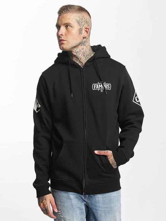 Famous Stars and Straps Zip Hoodie Chaos czarny