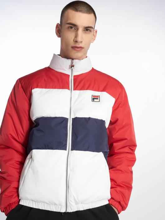 FILA Neo Colour Blocked Puffa Jacket Chinese Red