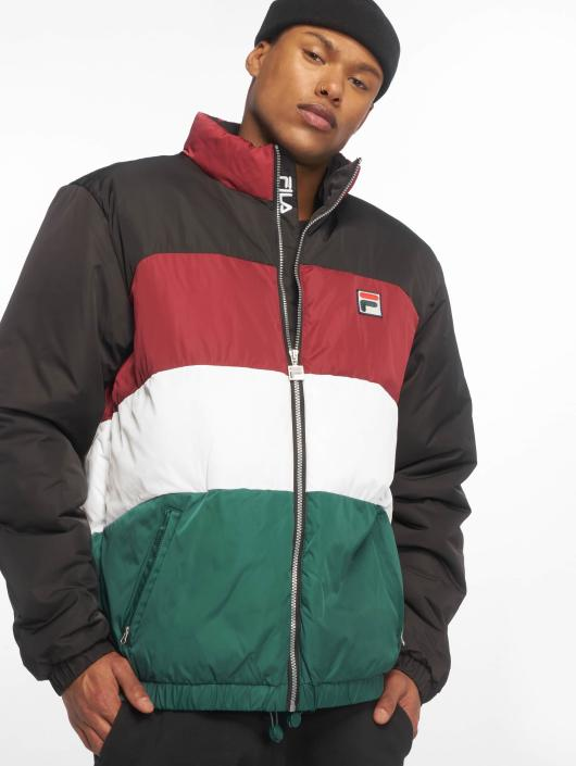 FILA Neo Colour Blocked Puffa Jacket Black