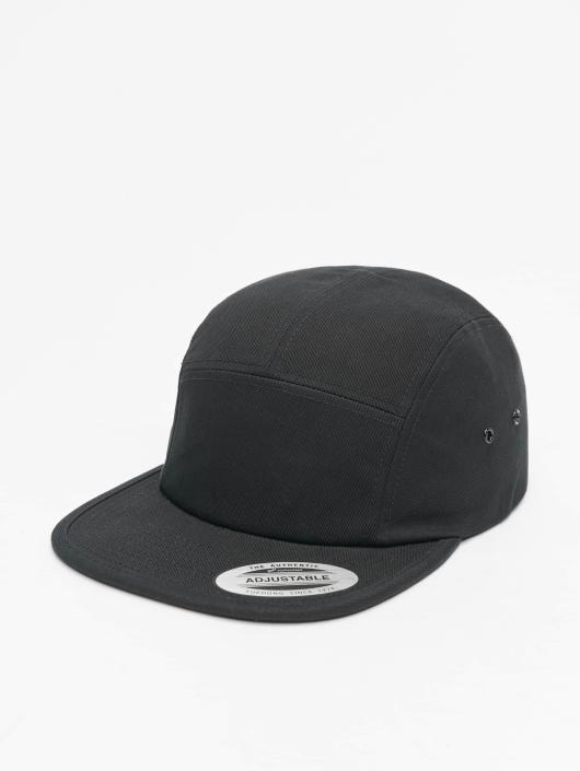 Flexfit 5 Panel Caps Classic Jockey schwarz