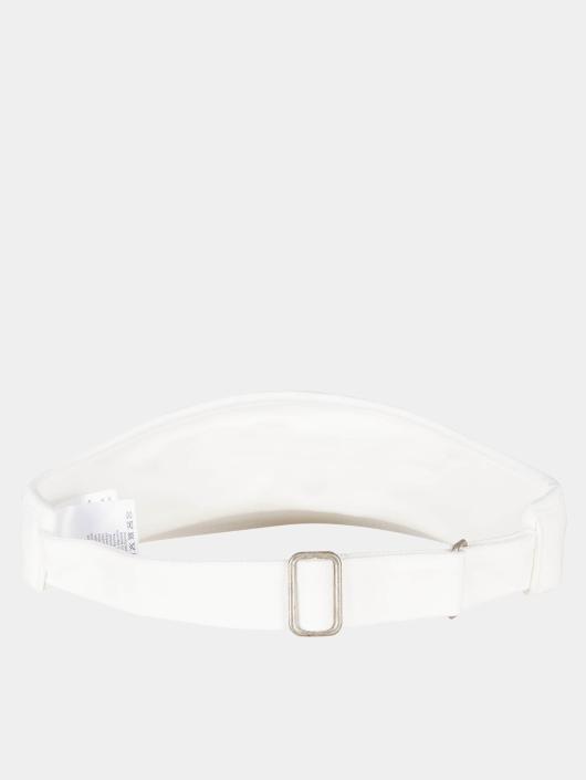 Flexfit Casquette Snapback & Strapback Flat Round Visor blanc