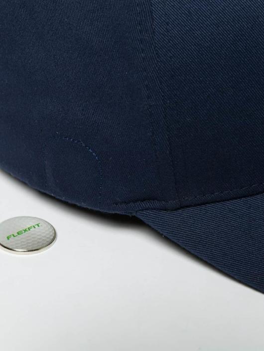 Flexfit Flexfitted Cap Golfer Magnetic Button blau