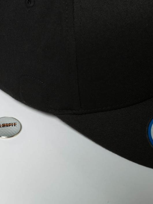 Flexfit Flexfitted Cap Golfer Magnetic Button schwarz