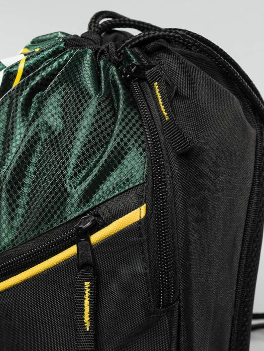 Forever Collectibles Sac à cordons NFL Diagonal Zip Drawstring Green Bay Packers noir