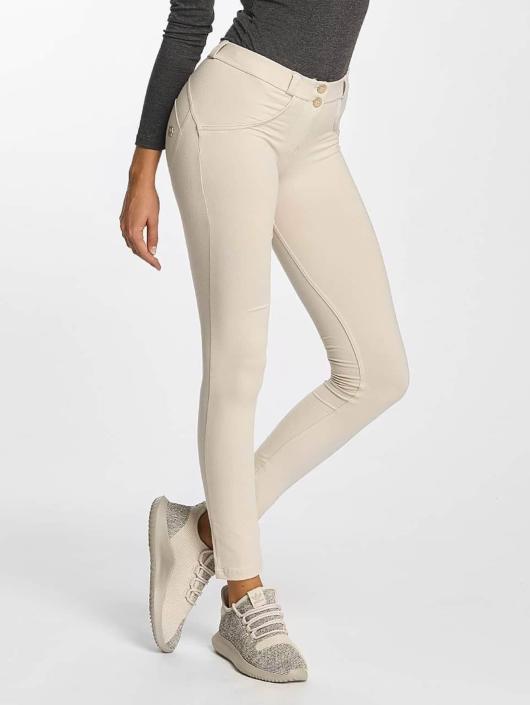 Freddy Slim Fit Jeans Regular Waist béžová