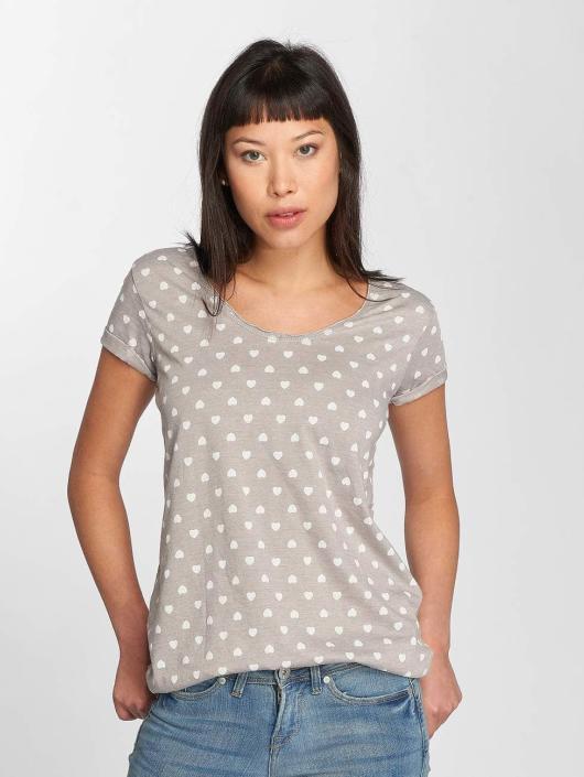 Fresh Made T-Shirt Hearts gray