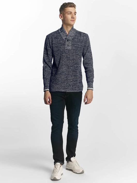 G-Star Pullover Dadin Shawl Collar blau