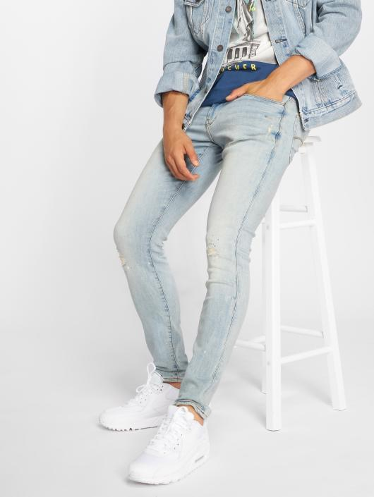 G-Star Skinny Jeans 3301 Elto Superstretch Deconstructed blue