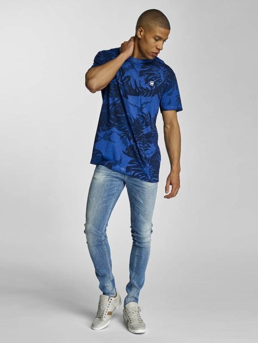 G-Star Tričká Relax Lyon Jersey HW AO OD modrá