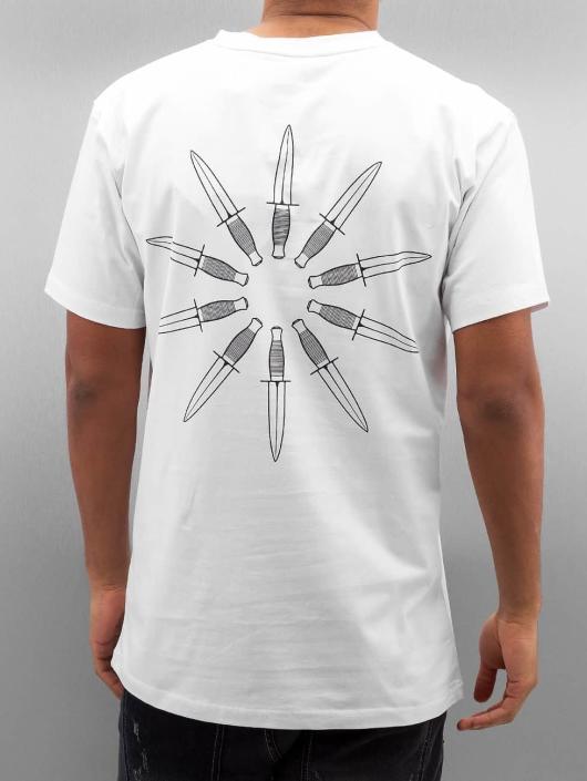 Grimey Wear T-Shirt Ten Stab Wounds white