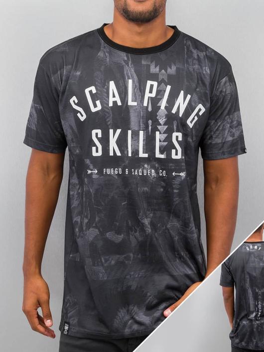 Grimey Wear t-shirt Scalping Skills zwart