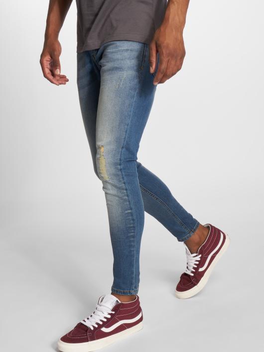 GRJ Denim Jean skinny Fashion bleu