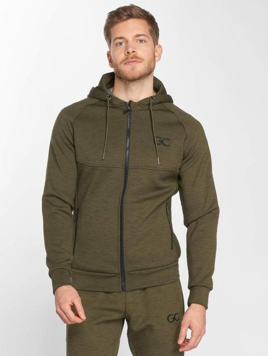 GymCodes Sweat capuche zippé Athletic-Fit olive