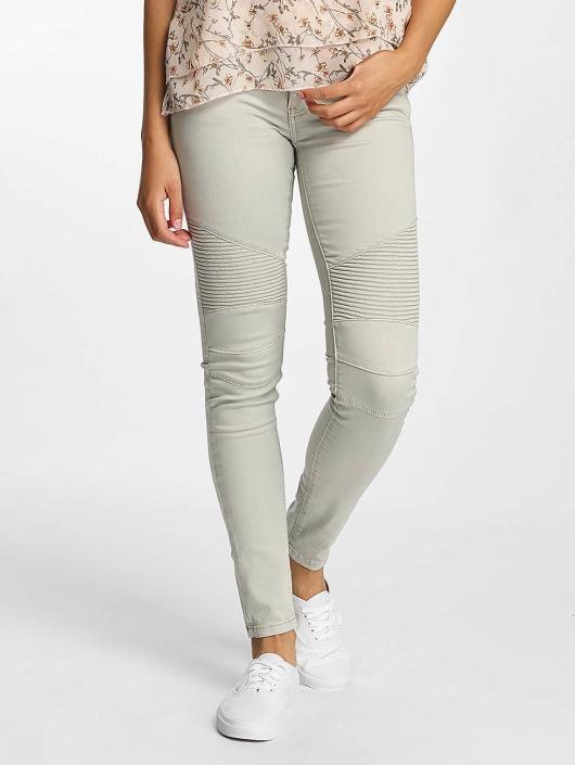 Hailys Skinny Jeans Kina Biker szary