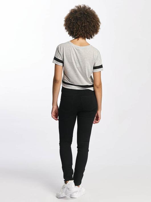 Hailys t-shirt Bonnie Cropped grijs
