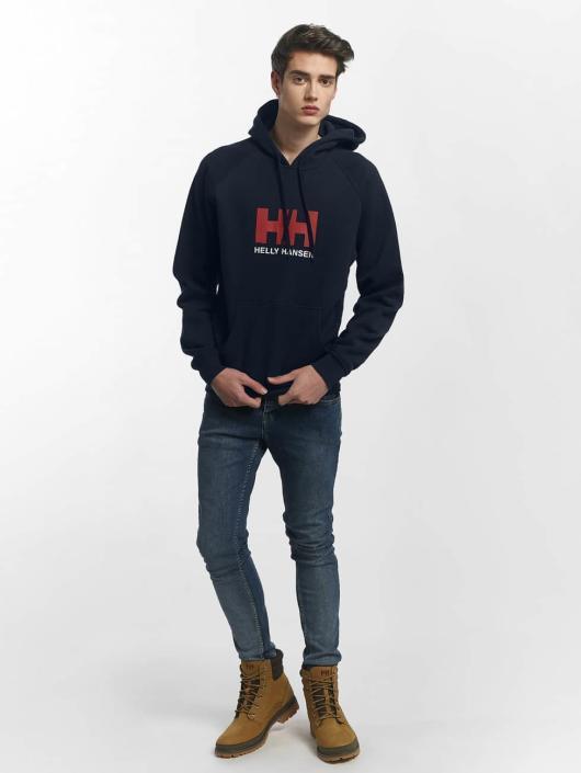 Helly Hansen Hoody Logo blau