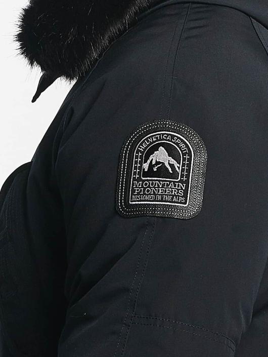 Helvetica Chaqueta de invierno Expedition Black Edition azul