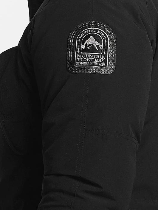 Helvetica Chaqueta de invierno Expedition Black Edition negro