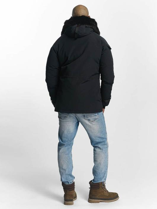 Helvetica winterjas Expedition Black Edition blauw