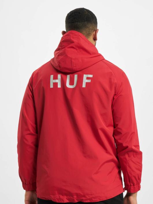 HUF Prechodné vetrovky Standard Shell èervená