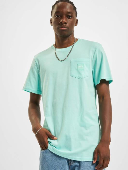 HUF T-Shirt Box Logo Pocket green