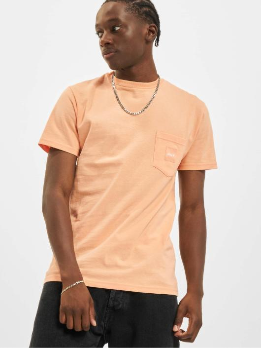 HUF T-Shirt Box Logo Pocket orange
