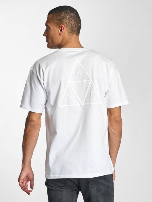 HUF Tričká Triple Troangle Pocket biela