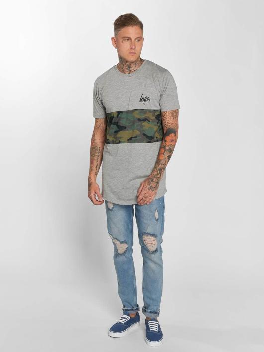 HYPE Camiseta Camo Panel gris