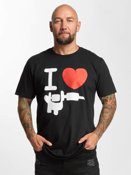 I Love Tattoo T-Shirty Basic czarny