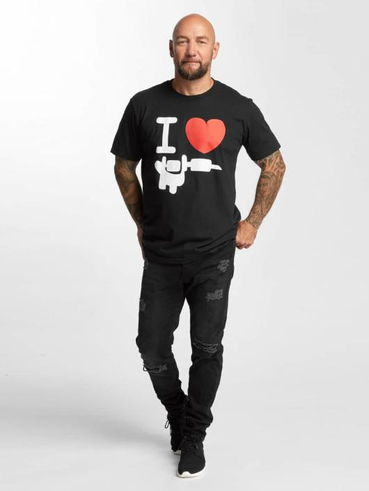 I Love Tattoo T-skjorter Basic svart