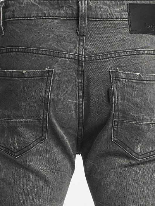 ID Denim dżinsy przylegające Manuel szary