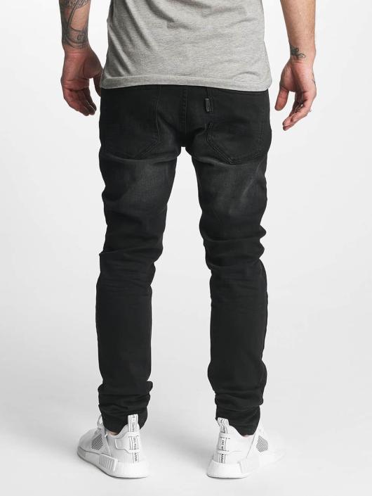 ID Denim Jeans straight fit Skinny Low Rise Tapered Leg nero