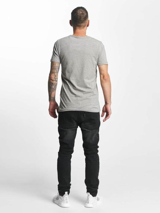 ID Denim Straight Fit Jeans Skinny Low Rise Tapered Leg black