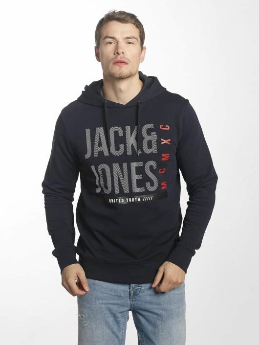 Jack & Jones Bluzy z kapturem jcoLine niebieski