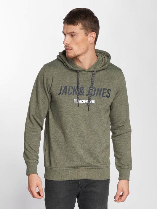 Jack & Jones Bluzy z kapturem jcoLinn oliwkowy
