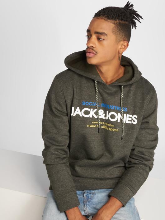 Jack & Jones Hoodie jcoJacob olive