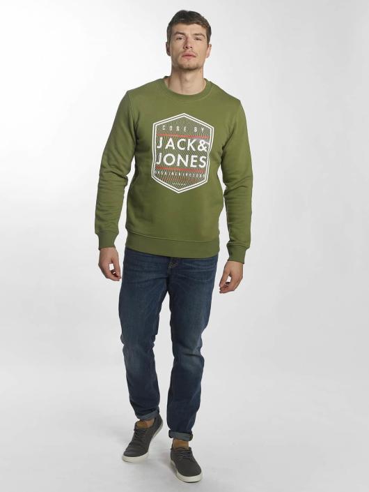 Jack & Jones Jumper jcoGeometric green