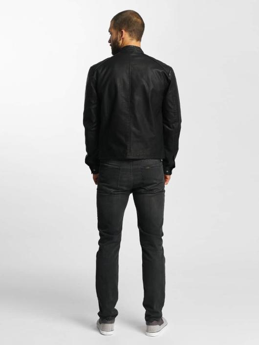6cce8542ee9891 Jack   Jones Herren Lederjacke jjorOriginals PU Leather in schwarz ...