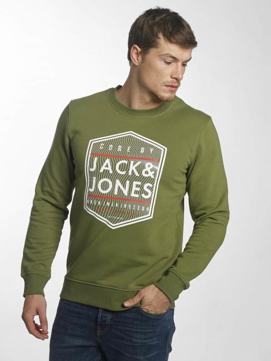 Jack & Jones Pullover jcoGeometric grün