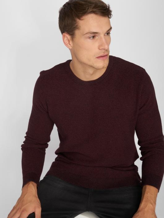Jack & Jones Pullover jjeStructure rot