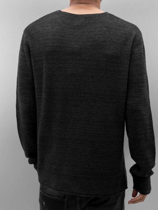 Jack & Jones Pulóvre jjorAxel Knit èierna