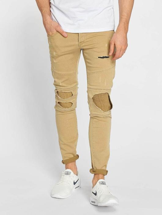 Jack & Jones Slim Fit Jeans jjiGlenn jjJaxx beige